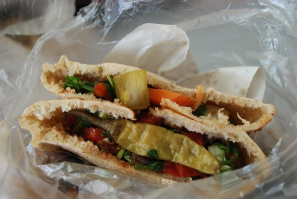 falafel pita - Friday Food Photos - the Falafel