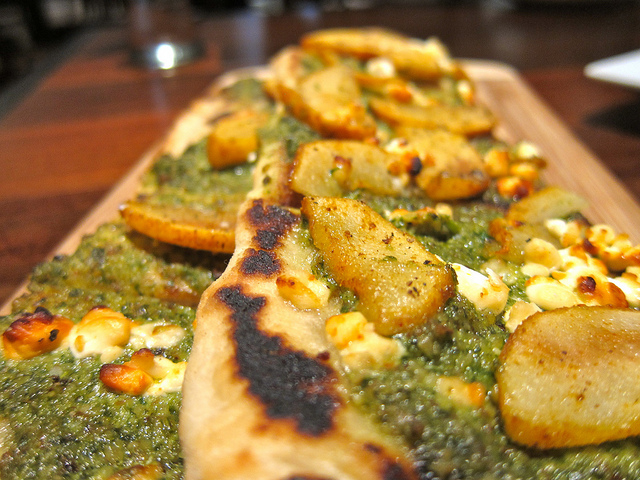Naan Pizza with Pear and Walnut Pesto – Daily Food Photo