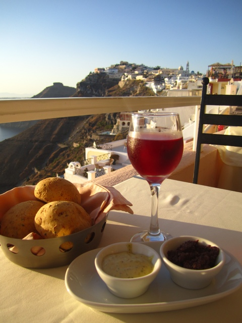 Rose, Tapenade and Killer View – Daily Food Photo